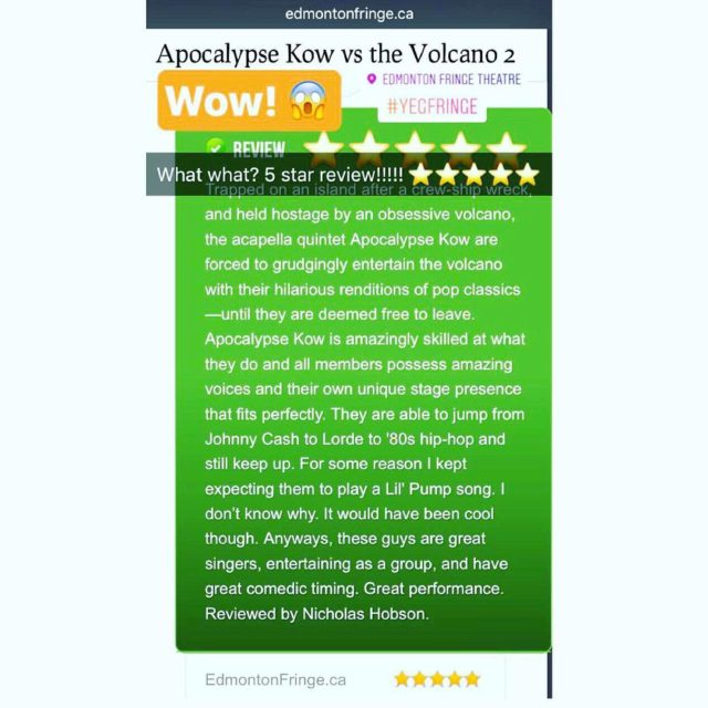 Got a  review!!!!! Thank you vueweekly! 4 shows lefthellip